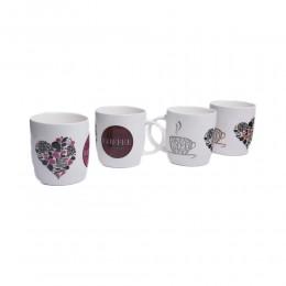 Biały kubek ceramiczny do kawy herbaty COFFEE ml