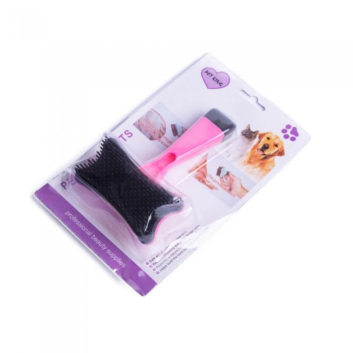 HIT! Zgrzebło szczotka dla psa kota samoczyszcząca mix kolorów