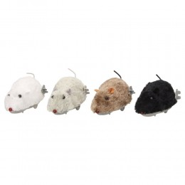 Futrzana mysz nakręcana zabawka dla dziecka lub kota 16cm