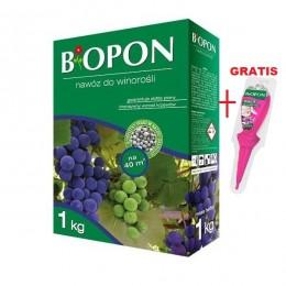 BIOPON nawóz granulowany do winogron malin jeżyn 1kg + GRATIS