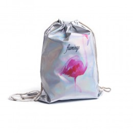 WORKOPLECAK plecak worek holograficzny FLAMING flamingo wodoodporny