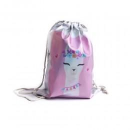 WORKOPLECAK plecak worek na sznurkach LAMA alpaka wodoodporny