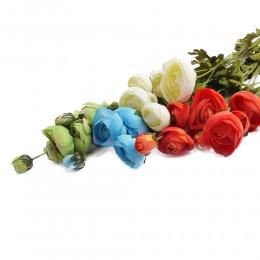 Sztuczne kwiaty gałązki JASKIER JASKRY PEŁNIK gałązka ozdobna 90 cm