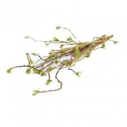Gałązka z drobnymi listkami sztuczna dekoracja na wiosnę 60 cm