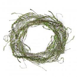 Długa gałązka z drobnymi listkami zielonymi sztuczna dekoracja
