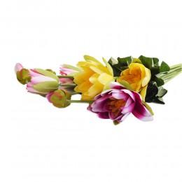 Sztuczna gałązka kwiat LILIA WODNA NENUFAR dekoracja 125 cm