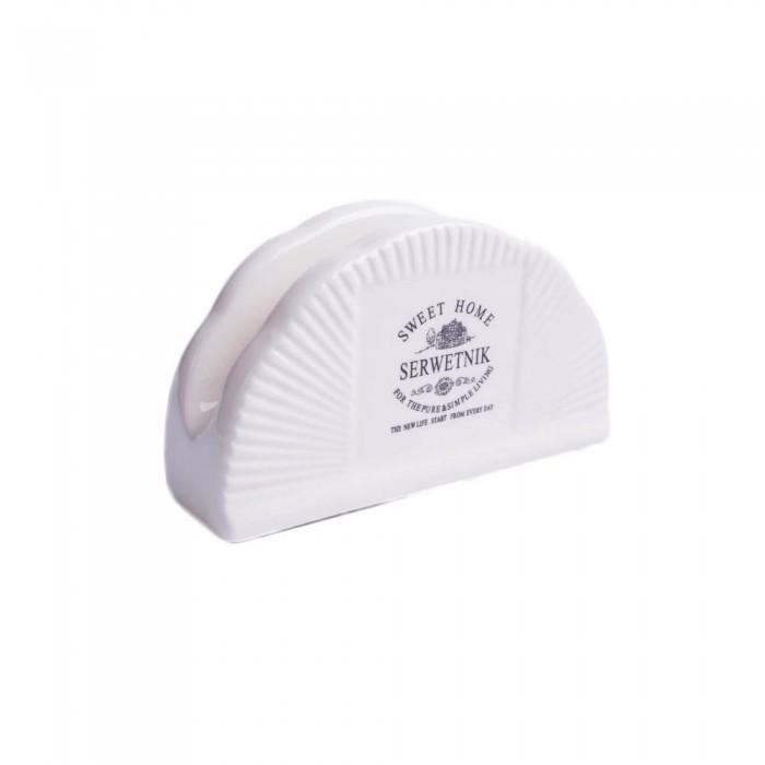 Ceramiczny chustecznik serwetnik stojak na serwetki SWEET HOME