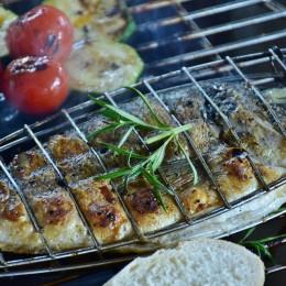 Akcesoria grillowe grill ruszt do pieczenia grillowania ryb