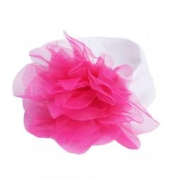 Opaska na głowę dla dziewczynki z kwiatkiem / Opaska niemowlęca