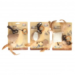 Ekologiczna zabawka dla kota na sznurku