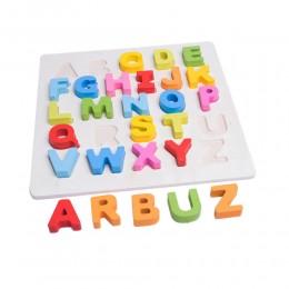 ABECADŁO literki litery drewniana układanka do nauki literek
