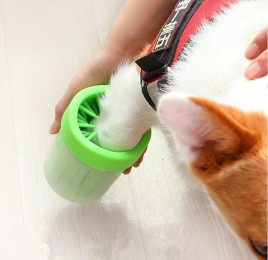 Silikonowy czyścik do łap psa / kubek pojemnik do czyszczenia łap