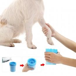 Kubek pojemnik do czyszczenia psich łap silikonowy czyścik do łap psa
