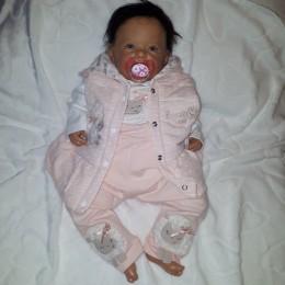 Różowy komplet niemowlęcy dla dziewczynki 3 częściowy OWIECZKA