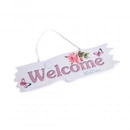 Ozdobna zawieszka ścienna ozdoba na drzwi z napisem WELCOME