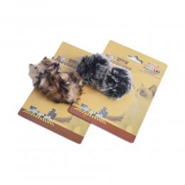 Zabawki dla kota piłeczki z futerka 2 sztuki