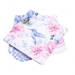 Serwetki papierowe dekoracyjne DAISY koliber kwiaty