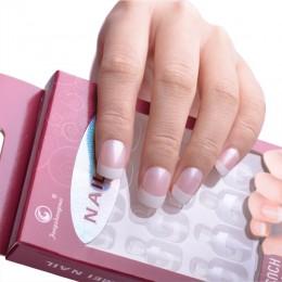 TIPSY sztuczne paznokcie French Manicure + klej 12 szt. różowe