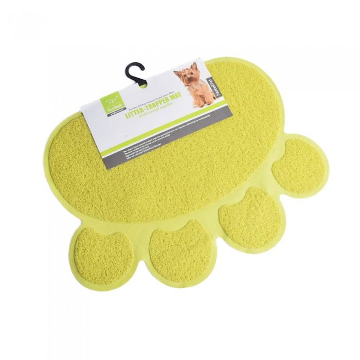 żółta duża mata pod miski dla psa / podkładka pod miski dla kota