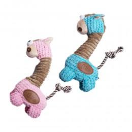Pluszowa piszcząca zabawka dla psa ŻYRAFA piszczałka