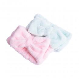Pluszowa opaska kosmetyczna na włosy do mycia twarzy do kąpieli spa