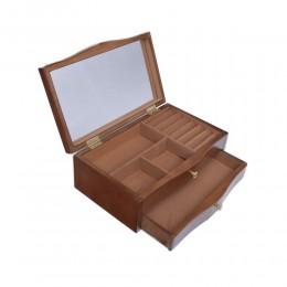 Szkatułka na biżuterię duża pojemna z lustrem na prezent