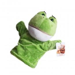 Pacynka pluszak na rękę dla dzieci ŻABA żabka kukiełka