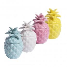 Świeczki zapachowe ceramiczne ANANAS / świeczki SCENTED CANDLE