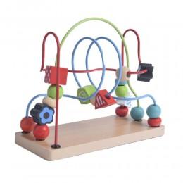 Kolejka MULA drewniana zabawka edukacyjna dla dzieci PRZEPLATANKA