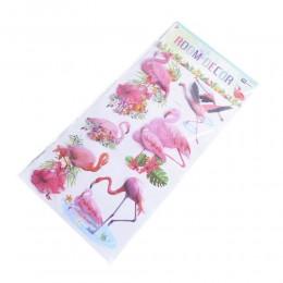 Dekoracje naklejki na ścianę meble motyw flaming flamingi kwiaty