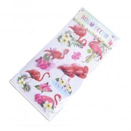 Dekoracje naklejki na ścianę meble motyw flamingi flaming kwiaty