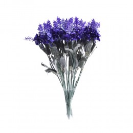 Ciemnofioletowa lawenda angielska sztuczny bukiet kwiatów jak żywy!