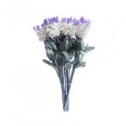 Biała lawenda angielska sztuczny bukiet kwiatów jak żywy!