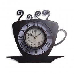 Zegar filiżanka ścienny wiszący do kuchni  COFFEE kawa bezgłośny