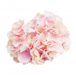 Hortensja wyrobowa główka duża JASNORÓŻOWA kwiat sztuczny