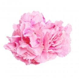 RÓŻOWA hortensja wyrobowa duża główka kwiat sztuczny