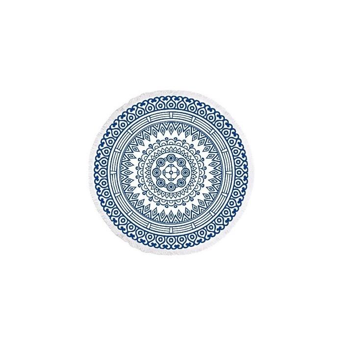 Ręcznik plażowy okrągły XXL / ręcznik kąpielowy Boho koc pled