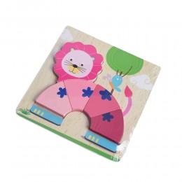 Drewniana układanka edukacyjne puzzle dla dzieci