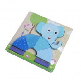 Drewniana układanka edukacyjne puzzle dla dzieci SŁOŃ słonik