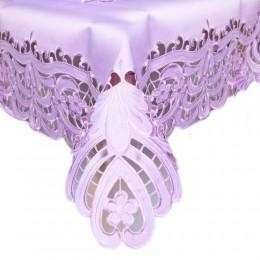 Fioletowa serweta haftowana 85x85 kwadrat bieżnik na stół kwadratowy