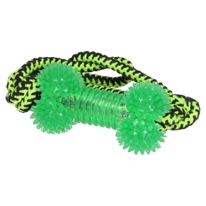 Gryzak i szarpak dla psa w formie sznura z kością
